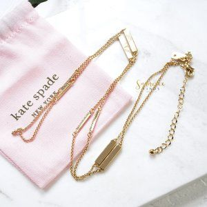 Kate Spade Raising The Bar Scatter Necklace Gold
